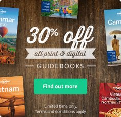 30% OFF Lonely Planet Guide Books! Click on the image for details.