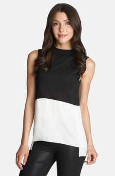 Free shipping and returns on 1.State Colorblock Mock Neck Top at Nordstrom.com. Stacked blocks of color look bold and modern on a two-toned sleeveless top finished with a fluttery overlay at the sides and a sophisticated mock turtleneck.
