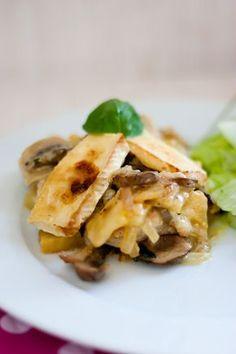 Low Carb Sellerie-Champignon-Schnitzel Pfanne mit Camemberthaube – Low Carb Köstlichkeiten