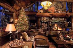 Christmas at the cabin! I'm dreaming of this spot right now!