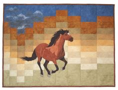 """Gathering Storm, 46 x 34"""", by Ann Lauer at Grizzly Gulch Gallery (Montana): quilt pattern"""