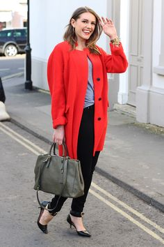 Red Coat Street Style Look | Monica Beatrice Welburn | The Elgin Avenue Blog