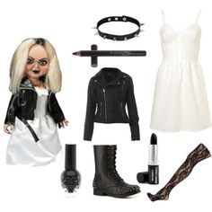 bride of chucky by zaza-gabor83 on Polyvore featuring polyvore, fashion, style, Miss Selfridge, Dorothy Perkins, Wanted, JULIANA, Raven Denim, Tiffany