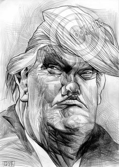 Donald-Trump-CARICATUREMore Pins Like This At FOSTERGINGER @ Pinterest