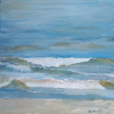 Caminando por la playa- -pintura original en olio