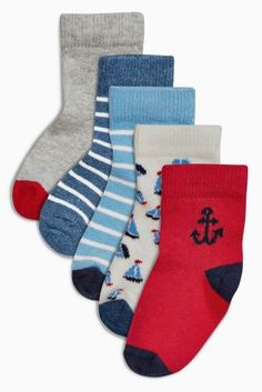 Buy Red/Blue Character Socks Five Pack (Younger Boys) online today at Next: Belgium, 6euro.