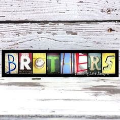 Brothers Wall Art Brothers Wood Sign Big by LettersOfLoveDesigns