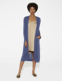 Silk Cashmere Duster Cardigan