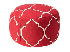 Chic furniture finds-A cheery pouf adds extra seating and a Moroccan vibe. Pouf, $69.99; kohls.com.