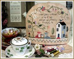 The Victoria Sampler - Cyberclasses - love the idea of the tea cozy!  Always looking for finishing ideas!