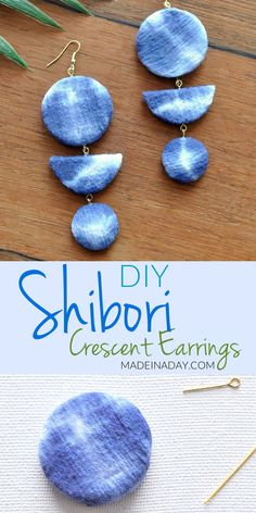 Shibori Crescent Earrings | Made in a Day