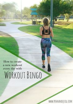 How to Create a New Workout Everyday with Workout Bingo on Penn & Quill