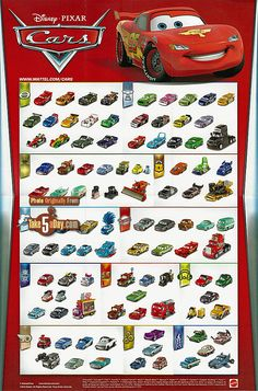 Mattel Disney Pixar CARS 2016 Poster (included with Daredevil Promotional Box)