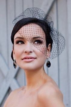 Black Cage Veil, to go with the black bridesmaid dresses? Hmm...