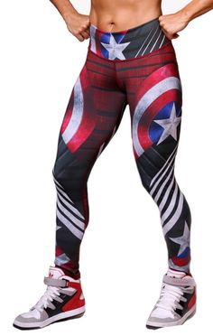 1780d243c79e1 American Flag Leggings These leggings are as PATRIOTIC as you are ...