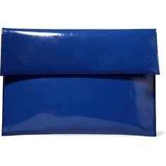 Marni Patent-leather clutch (5.575 CZK) ❤ liked on Polyvore featuring bags, handbags, clutches, blue, royal blue purse, marni handbag, blue patent leather handbag, blue patent handbag and royal blue handbag