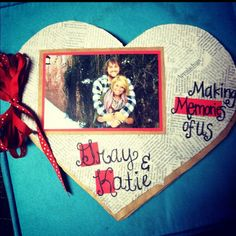 Using newspaper, ribbon and brown paper bags, make a scrapbook for your boyfriend on valentines day.