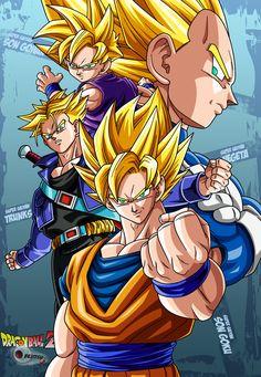 the 4 super saiyans by Bejitsu.deviantart.com on @deviantART