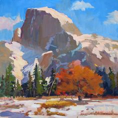 half dome Yosemite National Park, National Parks, Oil Paintings, Watercolor Paintings, Mountain Art, Half Dome, Sketchbooks, Gouache, Nepal