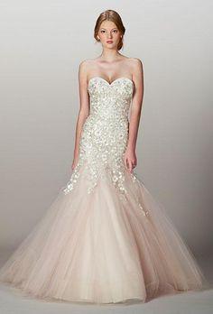 Liancarlo blush, mermaid wedding dress
