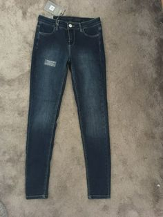 Bnwt Girls / Womens Oasis Blue Denim Skinny Jeans Size 8 #Oasis