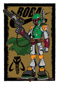BOBA FETT has always been the most baddest ass and under used character in the star wars univers. Boba Fett was a Mandalorian warrior and bounty hunter. This piece was also inspired by The Nike Dunk High Premium SB – Boba Fett released in 2008.