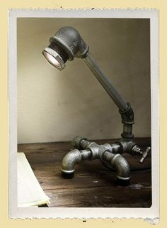 Upcycled Recycled Lamp