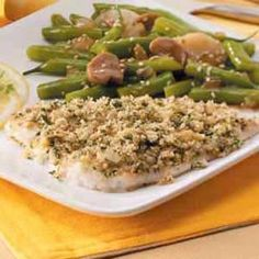 """Herb Fish Fillets  Combining different types of herbs not only gives this speedy fish depth of flavor, but it also results in a beautiful dish. Yvonne Nemec of Phillipsburg, New Jersey relates, """"this is such an easy dish and so delicious. The herbs compliment the delicate flavor of the fish. We love it!"""
