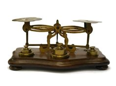 10% Off French Antique Postal Scale with Set of by LeBonheurDuJour
