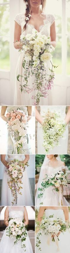 Romantic Cascade Trailing Wedding Bouquets