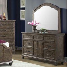 Loon Peak Hysham 7 Drawer Dresser with Mirror