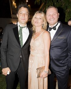 Jefferson Hack, Kate Moss and amfAR The Foundation for AIDS Research CEO Kevin Robert Frost at the annual Inspiration Gala in São Paulo  Kevin Tachman / BackstageAT  More images: http://bkstge.at/amfARsp2015