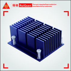 Hot Aluminum Extruded Oem Heat Sink For The Computer With Blue Anodizing - Buy Aluminum Extrusion Profile,Aluminum Heat Sink,Heat Sink For The Computer Product on Alibaba.com