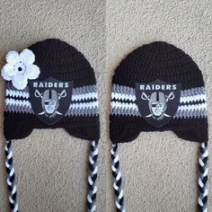 Oakland Raiders football crochet hat beanies for boy or girl hooked on  Layla Hey 435e529f9