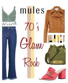 Slip 'Em On: Mules Contest by keepfashion92 on Polyvore featuring moda, Rosie Assoulin, River Island, Sonia Rykiel, Gucci, Moschino, Dolce&Gabbana, tarte and Molton Brown