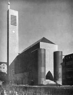 Kirche am Hohenzollernplatz | 1930-34 | Berlin, Germany | Ossip Klarwein (as architect in the office of Fritz Höger)