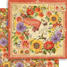 PREORDER - Graphic 45 - Seasons - 12 x 12 Scrapbook Paper - Summer