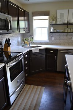 Corner Kitchen Sink Design Ideas | Kitchen with corner sink ...