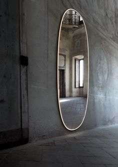 Buy online La plus belle By flos, oval wall-mounted mirror with integrated lighting design Philippe Starck Philippe Starck, Hans Wegner, George Nelson, Gio Ponti, Freestanding Mirrors, Bathroom Mirrors, Spiegel Design, Illuminated Mirrors, Bathroom Design Luxury
