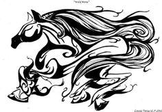 cool horse tattoo design