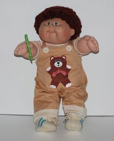 Cabbage Patch Boy Doll - Joel Kit and Green Crayon – Vintage 1985 #DollswithClothingAccessories