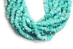1 Strand Natural Brazilian Amazonite Free Size Uneven 7mm Loose Gemstone Beads #LUCTSA
