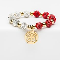 Kaleidoscope Red/White Gold