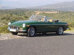 1973 BRG MGB - last of the crome bumper MG's, my first British Sports car