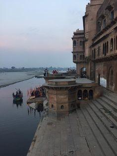 Hindu Cosmos - Vrindavan: the ghats on the Yamuna River, where...