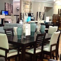 Dining table & centerpiece- City Furniture