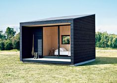 Now, for those looking to for the ultimate in cabin design, the beaufiul MUJI Huts are finally going to be on the market. Now, for those looking to for the ultimate in cabin design, the beaufiul MUJI Huts are finally going to be on the market. Prefab Cabins, Tiny Cabins, Wooden Cabins, Prefab Sheds, Wooden Hut, Cabin Design, Tiny House Design, Design Shop, Shed Roof Design