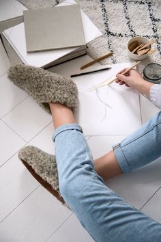 Home slippers, wool, hjemmesko, The Cozy Sheep Sheep, Slippers, Cozy, Blog, Fashion, Slipper, Moda, La Mode, Blogging