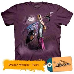 Fairy Dragon Whisperer Magical Wings Moon Fantasy Beautiful Mythical Spirit Purple Cotton Adult Mountain T-Shirt Dolphin Tale, Cute Wild Animals, Cat Costumes, Cat Lover Gifts, New Image, Cool Tees, Are You The One, Classic Style, Vibrant Colors