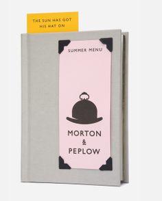 Morton & Peplow Menu Book by Magpie Studio